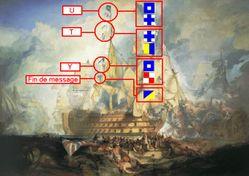 Código Internacional sendo utilizado em uma pintura
