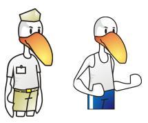 Mascotes de Cascatinha e TFM