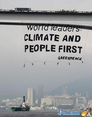 Protesto do GreenPeace na Ponte rio-niterói
