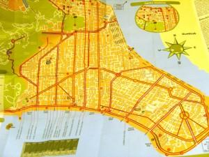 Mapa turístico de Santos