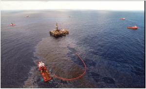 ORSV fazendo contenção em vazamento