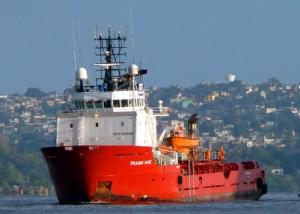 Skandi YarePSV do grupo DOF que exerce as funções de Fire-fighting e Oil Recovery nas bacias de Santos e Campos